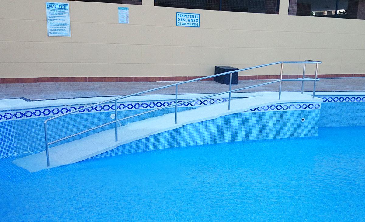 Reparacion y construccion de escaleras para piscinas en Castellon