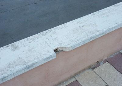 Reparación y sustitución de coronación piscinas en Castellón