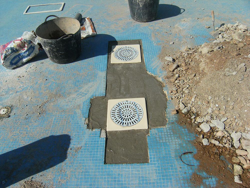 Reparación sumideros de piscinas en Castellón